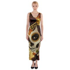 Fantasy Girl Art Fitted Maxi Dress