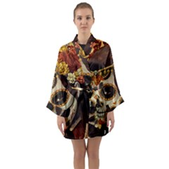 Fantasy Girl Art Long Sleeve Kimono Robe