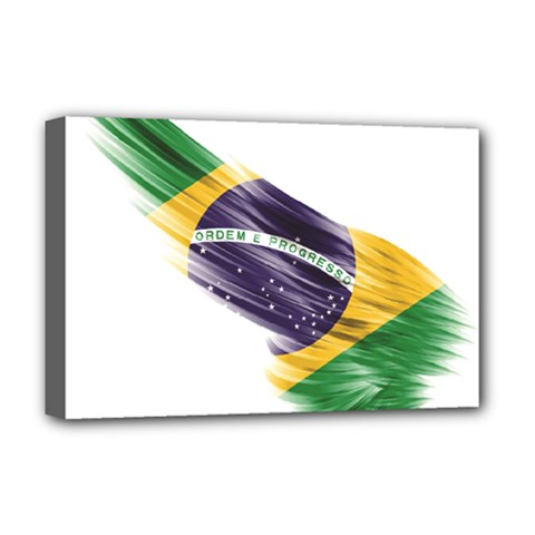 Flag Of Brazil Deluxe Canvas 18  X 12   by Sapixe