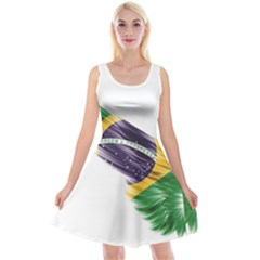 Flag Of Brazil Reversible Velvet Sleeveless Dress