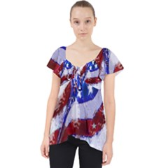 Flag Usa United States Of America Images Independence Day Lace Front Dolly Top