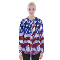 Flag Usa United States Of America Images Independence Day Womens Long Sleeve Shirt