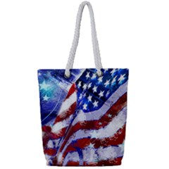 Flag Usa United States Of America Images Independence Day Full Print Rope Handle Tote (small)