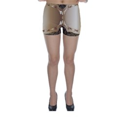 Floral Metal Pattern Skinny Shorts by Sapixe