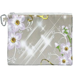 Floral Delight Canvas Cosmetic Bag (xxxl)