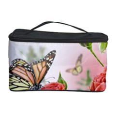 Flora Butterfly Roses Cosmetic Storage Case by Sapixe