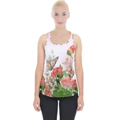 Flora Butterfly Roses Piece Up Tank Top