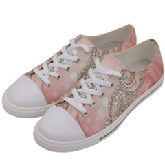 Wonderful Soft Flowers With Floral Elements Women s Low Top Canvas Sneakers by FantasyWorld7