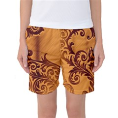 Floral Vintage Women s Basketball Shorts