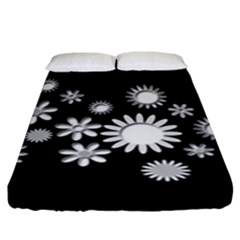 Flower Power Flowers Ornament Fitted Sheet (king Size)