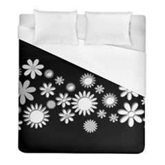 Flower Power Flowers Ornament Duvet Cover (full/ Double Size) by Sapixe