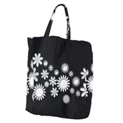 Flower Power Flowers Ornament Giant Grocery Zipper Tote by Sapixe