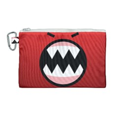 Funny Angry Canvas Cosmetic Bag (large) by Sapixe