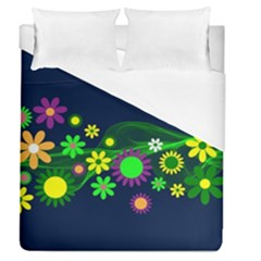 Flower Power Flowers Ornament Duvet Cover (queen Size) by Sapixe