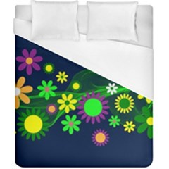 Flower Power Flowers Ornament Duvet Cover (california King Size) by Sapixe