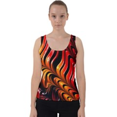 Fractal Mathematics Abstract Velvet Tank Top