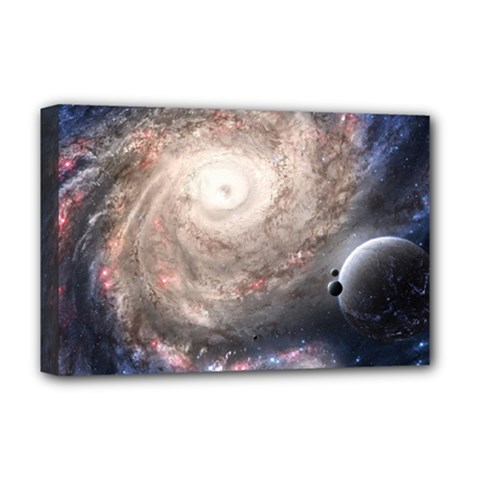 Galaxy Star Planet Deluxe Canvas 18  X 12   by Sapixe