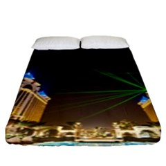 Galaxy Hotel Macau Cotai Laser Beams At Night Fitted Sheet (king Size)