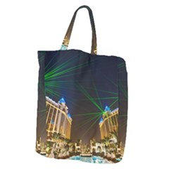 Galaxy Hotel Macau Cotai Laser Beams At Night Giant Grocery Zipper Tote