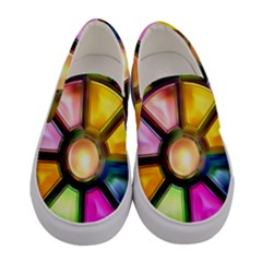 Glass Colorful Stained Glass Women s Canvas Slip Ons