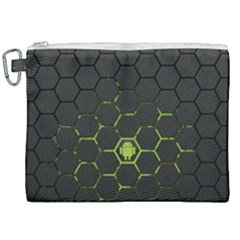 Green Android Honeycomb Gree Canvas Cosmetic Bag (xxl) by Sapixe