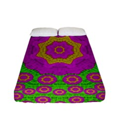 Decorative Festive Bohemic Ornate Style Fitted Sheet (full/ Double Size) by pepitasart