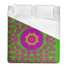 Decorative Festive Bohemic Ornate Style Duvet Cover (full/ Double Size) by pepitasart