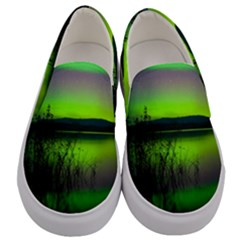 Green Northern Lights Canada Men s Canvas Slip Ons