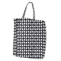 Grid Pattern Background Geometric Giant Grocery Zipper Tote