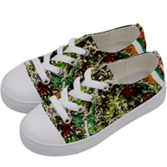 April   Birds Of Paradise 5 Kids  Low Top Canvas Sneakers by bestdesignintheworld