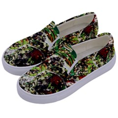 April   Birds Of Paradise 5 Kids  Canvas Slip Ons by bestdesignintheworld
