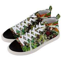 April   Birds Of Paradise 5 Men s Mid-top Canvas Sneakers by bestdesignintheworld