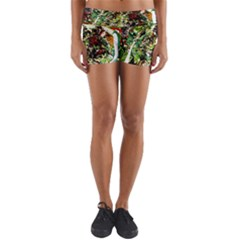 April   Birds Of Paradise 5 Yoga Shorts by bestdesignintheworld
