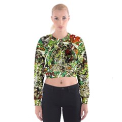 April   Birds Of Paradise 5 Cropped Sweatshirt by bestdesignintheworld