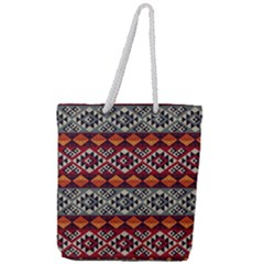 Mayan Symbols Pattern  Full Print Rope Handle Tote (large) by Cveti