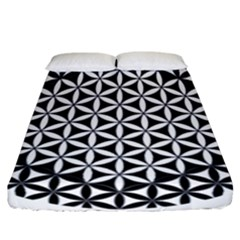 Flower Of Life Hexagon Cube 4 Fitted Sheet (california King Size) by Cveti