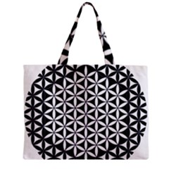 Flower Of Life Hexagon Cube 4 Zipper Mini Tote Bag by Cveti