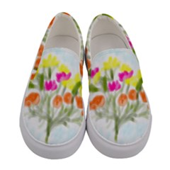 Easter Posey Women s Canvas Slip Ons