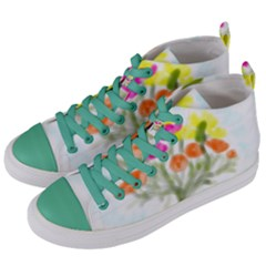 Easter Posey Women s Mid Top Canvas Sneakers by DeneWestUK