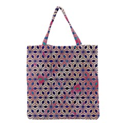 Asterisk Pattern Sacred Geometry 2 Grocery Tote Bag by Cveti