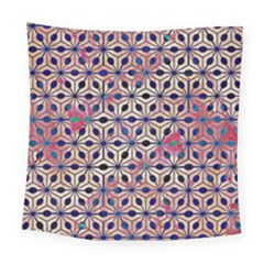 Asterisk Pattern Sacred Geometry 2 Square Tapestry (large) by Cveti