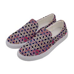 Asterisk Pattern Sacred Geometry 2 Women s Canvas Slip Ons by Cveti