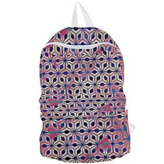 Asterisk Pattern Sacred Geometry 2 Foldable Lightweight Backpack by Cveti