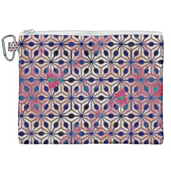 Asterisk Pattern Sacred Geometry 2 Canvas Cosmetic Bag (xxl) by Cveti