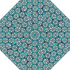 Flower Of Life, Paint, Turquoise, Pattern, Hook Handle Umbrellas (large) by Cveti