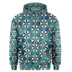 Flower Of Life, Paint, Turquoise, Pattern, Men s Pullover Hoodie by Cveti