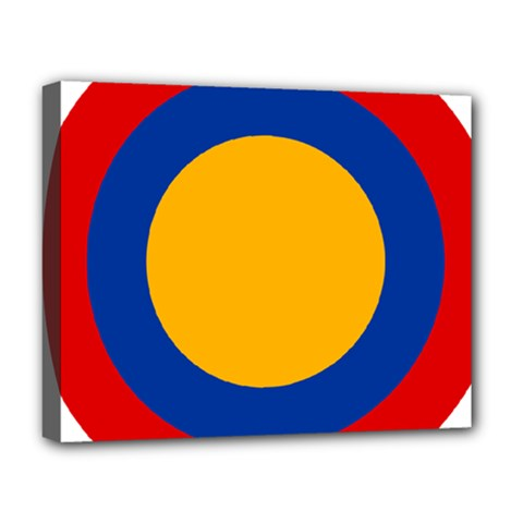 Roundel Of Armenian Air Force Deluxe Canvas 20  X 16   by abbeyz71
