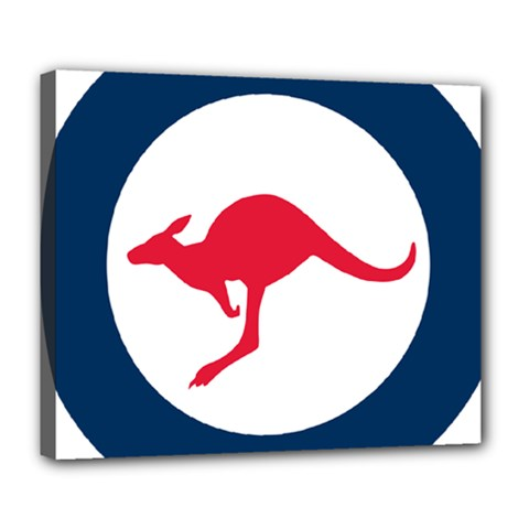 Roundel Of The Australian Air Force Deluxe Canvas 24  X 20   by abbeyz71