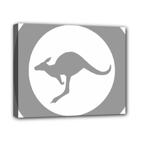 Low Visibility Roundel Of The Australian Air Force Canvas 10  X 8  by abbeyz71