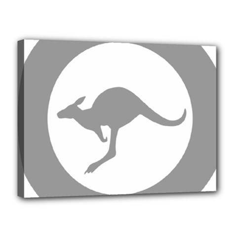 Low Visibility Roundel Of The Australian Air Force Canvas 16  X 12  by abbeyz71